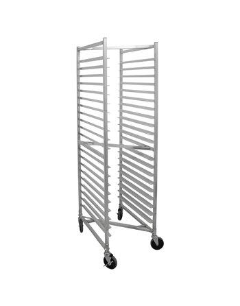 "Aluminum Z-Style Bun Pan Rack, 20 Slot, 3"" Space"