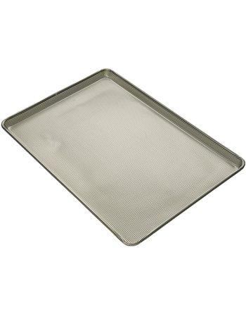 16-Gauge Aluminum Perforated Bottom-Sheet Pan, Full Size, Glazed