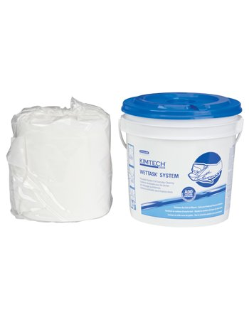 """Wettask* Wipers for Solvents, 60 Wipes, 12-1/2"""" x 12"""""""