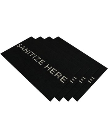 "StepWell Sanitizing Mat Inserts , Size: 20-1/2"" x 33"" , ""Sanitize Here"""