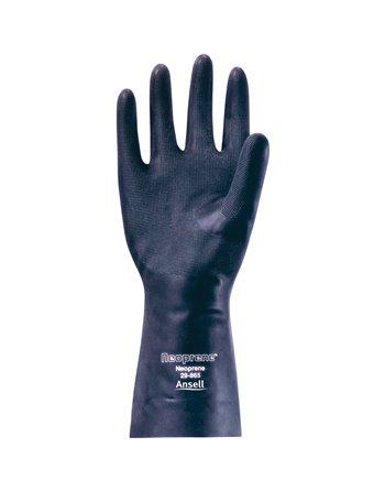 """29-865 Gloves, Size Large/9, 13"""" L, Neoprene, Flock-Lined Inner Lining, 18-mil"""