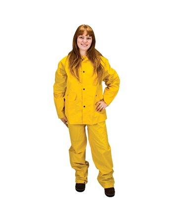 RZ100 Rain Suit, Polyester/PVC, Small, Yellow