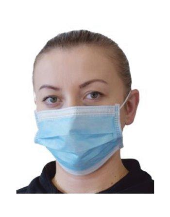 Pleated Procedure Mask, Non-Latex, ASTM 2, 1000/Case