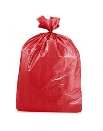 Garbage Bag, Food Grade, Red 30x38 2Mil  100/cs