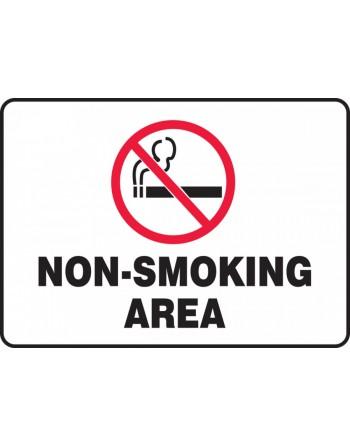 "Safety Sign: Non-Smoking Area 7""x10 Adhesive Vinyl"