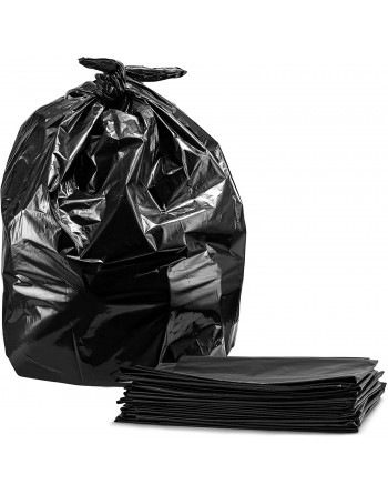 """Garbage Bags, Black, 26"""" x 36"""", X-Strong, Case/125"""