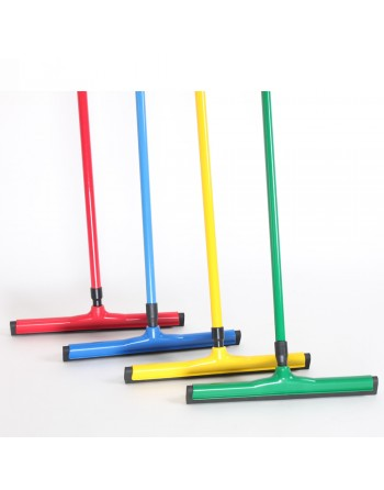 """Moss Plastic Squeegee, Natural Rubber Plastic, 18"""", 60"""" Handle, Case of 12"""