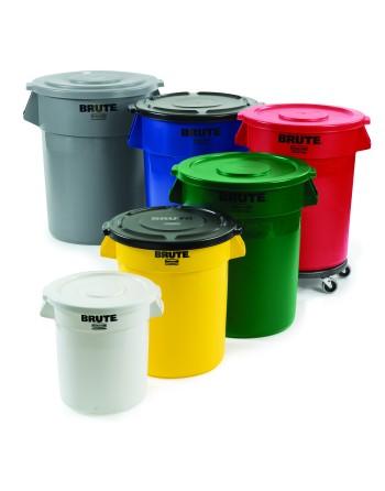 Brute Garbage Containers, 10 Gal, 20 Gal, 32 Gal, 44 Gal, 55 Gal