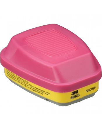 3M 6000 Series Respirator Cartridges, Gas/Vapour Cartridge, Organic Vapour/Acid Gas/P100